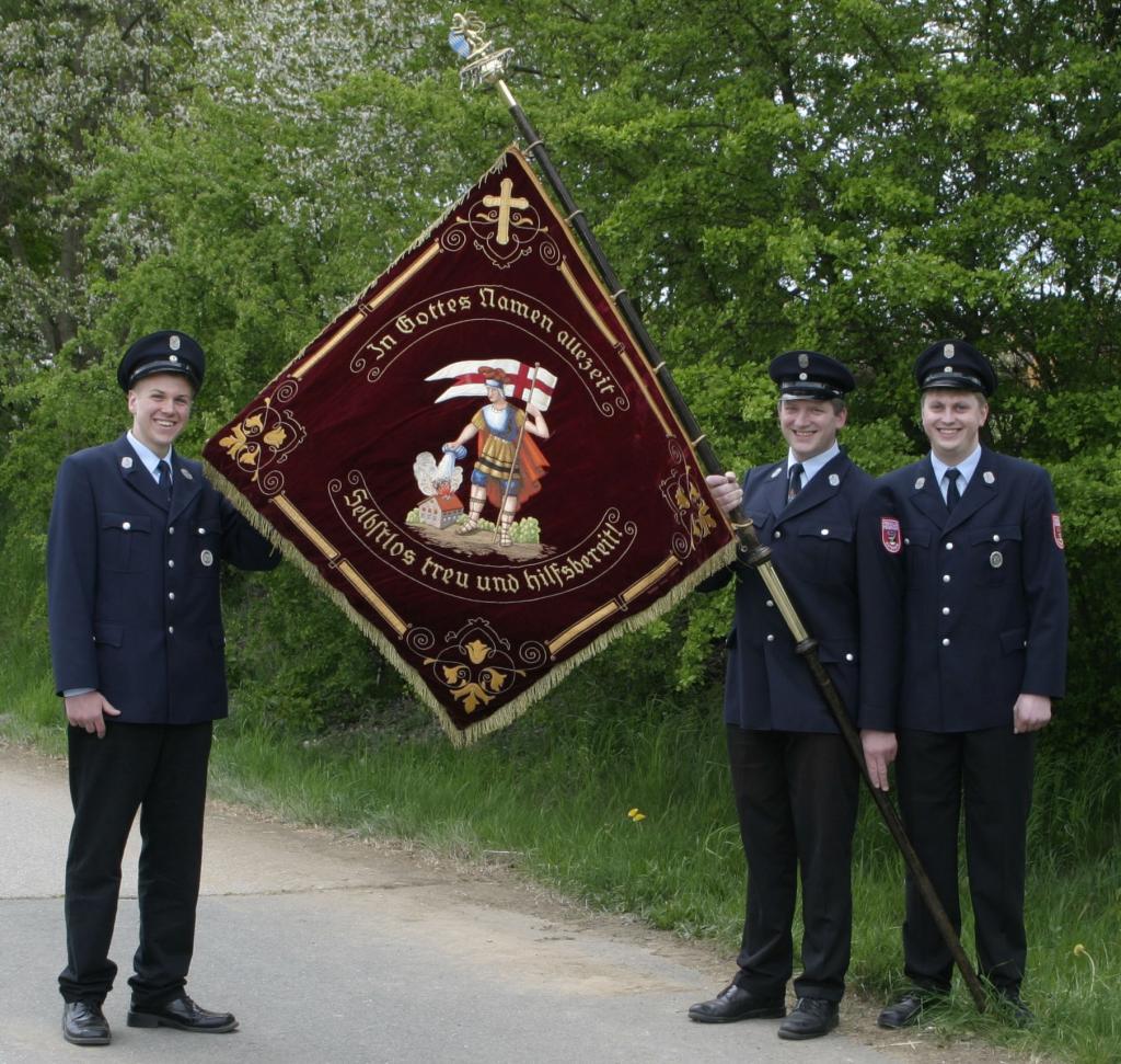 Fahne der Freiwilligen Feuerwehr Guteneck